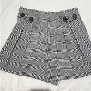 Checked paper bag shorts!
